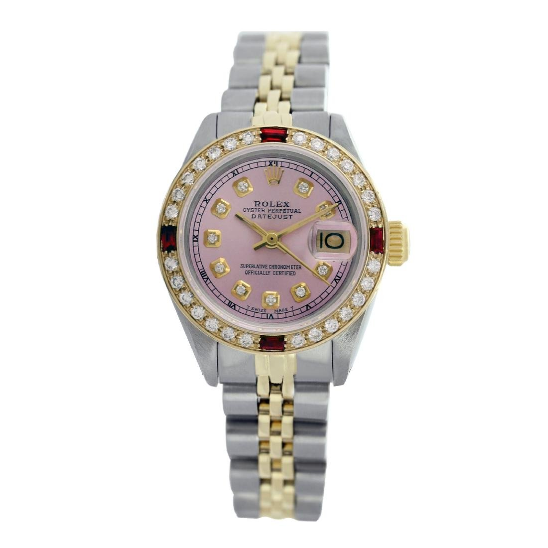 Rolex Pre-owned 26mm Womens Custom Pink with Tracker