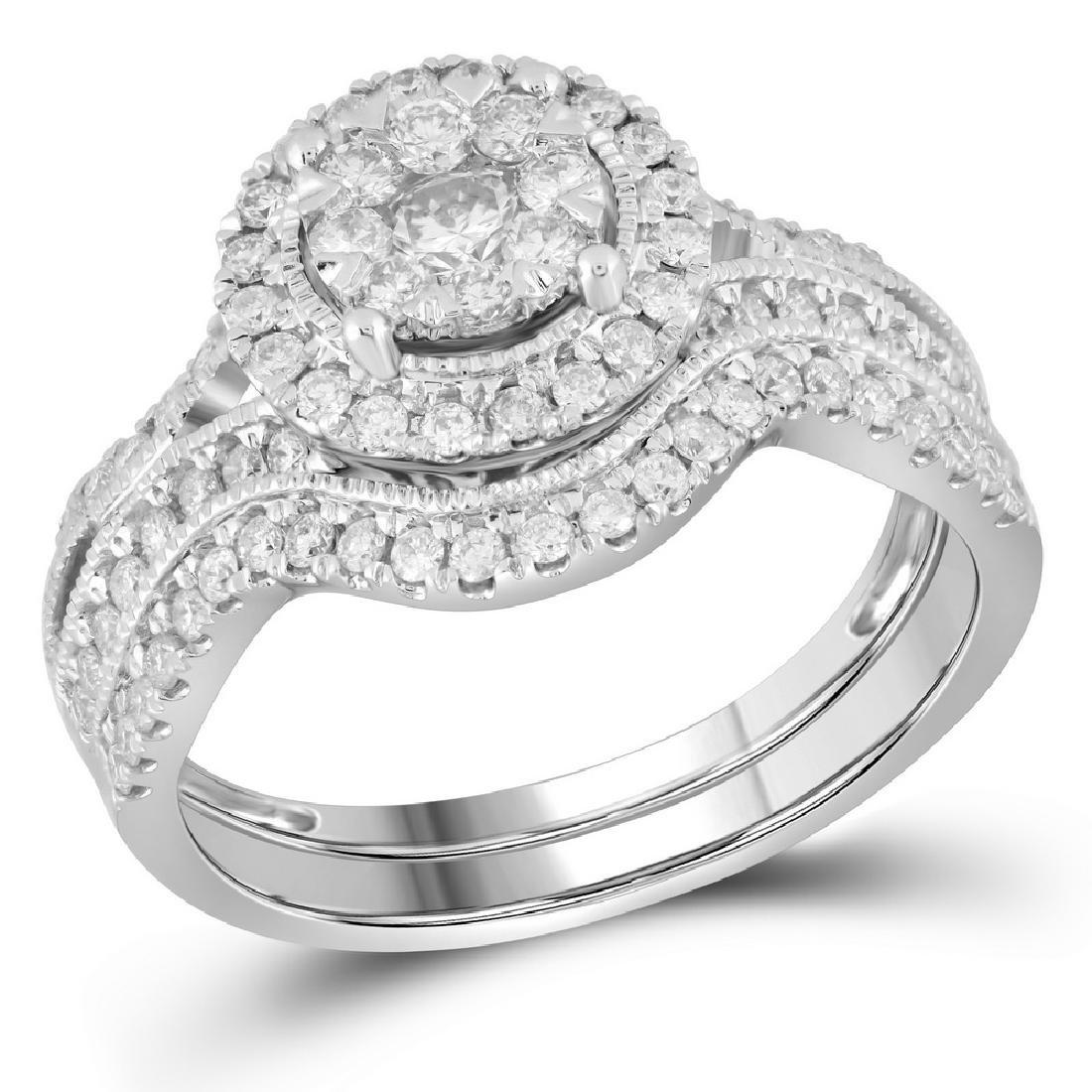 0.88 CTW Diamond Bridal Wedding Engagement Ring 14KT