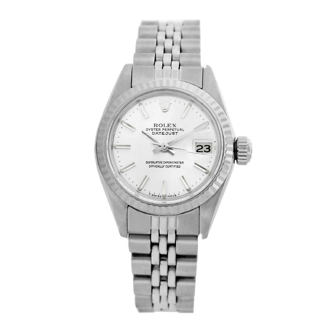 Rolex Pre-owned 26mm Womens Original Rolex Silver Dial