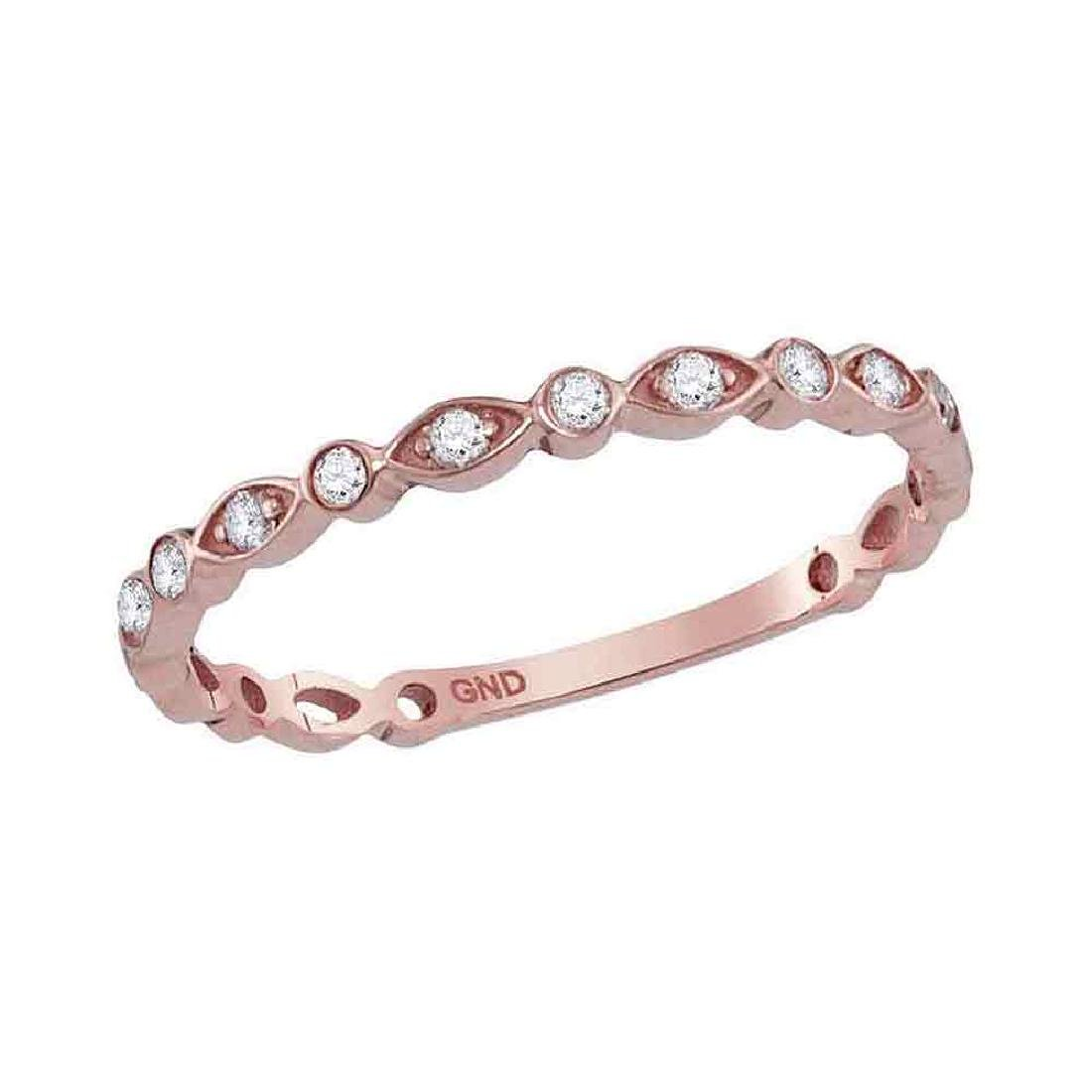 0.13 CTW Diamond Stackable Ring 14KT Rose Gold -