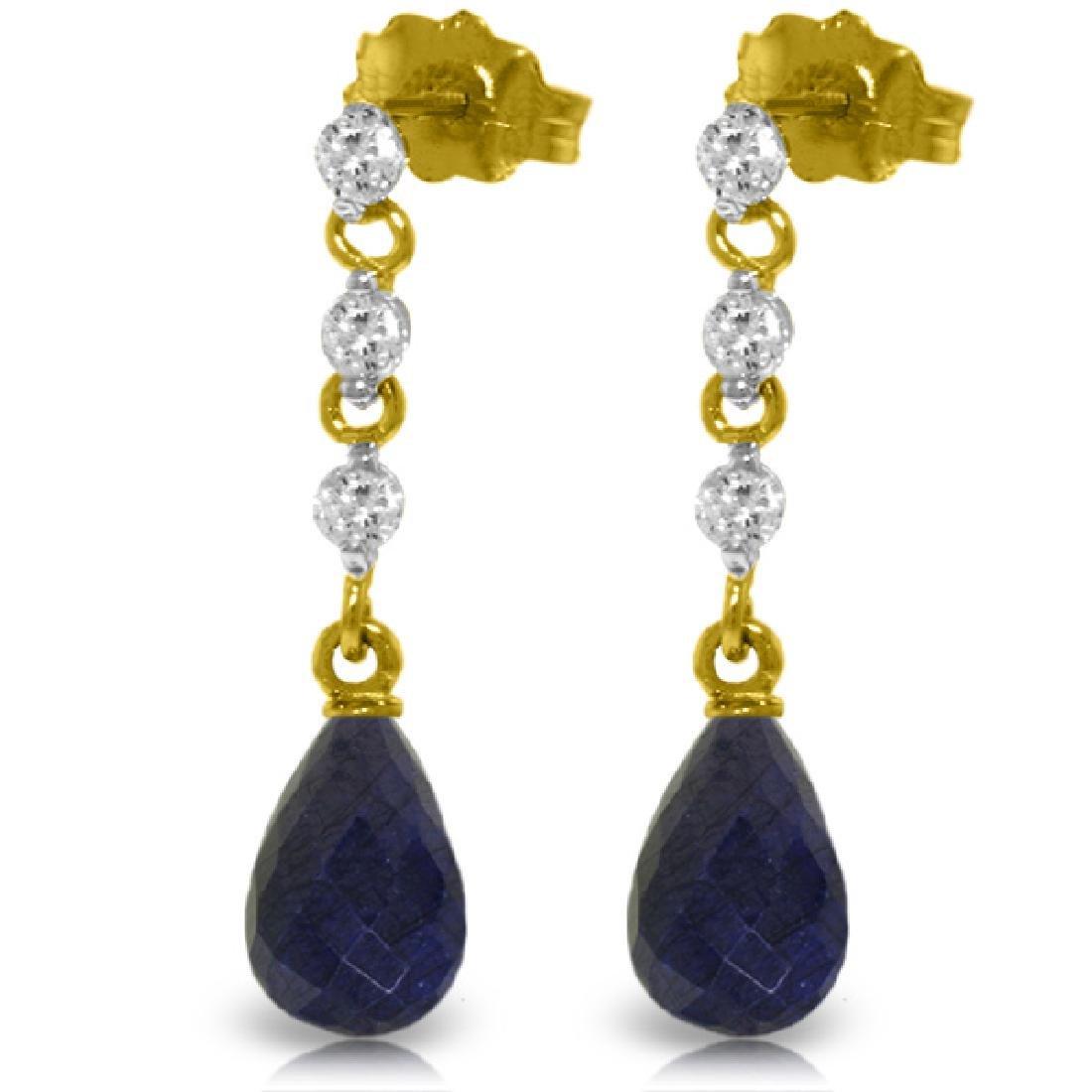 Genuine 6.9 ctw Sapphire & Diamond Earrings Jewelry