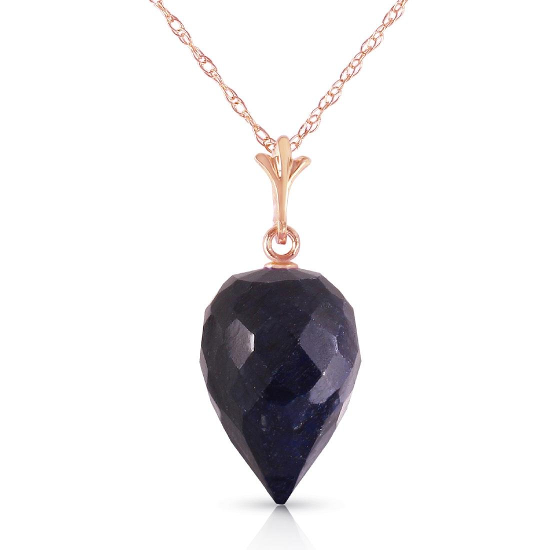 Genuine 12.9 ctw Sapphire Necklace Jewelry 14KT Rose