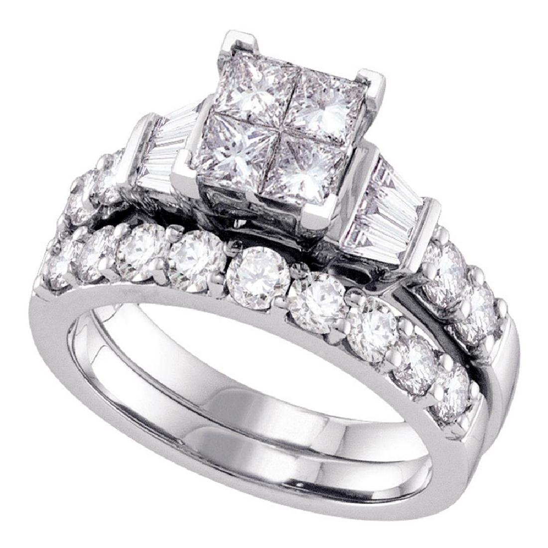 1 CTW Princess Diamond Invisible-set Bridal Engagement