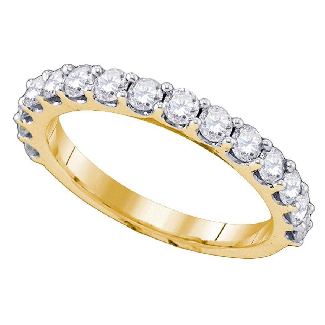 1 CTW Diamond Wedding Ring 10KT Yellow Gold - REF-59F9N