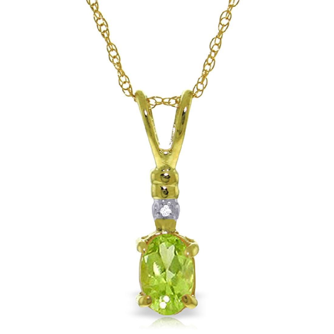 Genuine 0.46 ctw Peridot & Diamond Necklace Jewelry