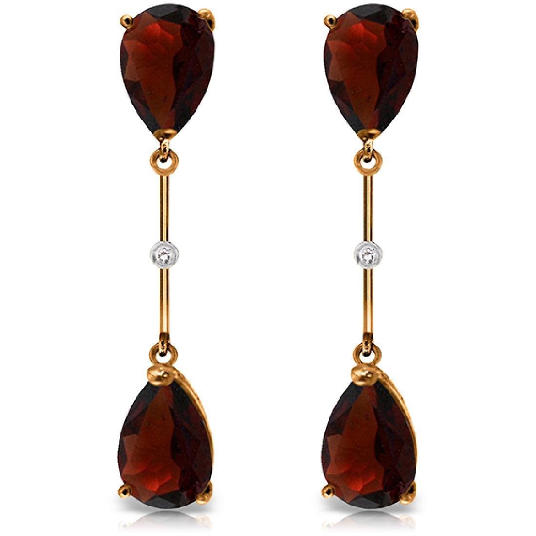Genuine 6.01 ctw Garnet & Diamond Earrings Jewelry 14KT