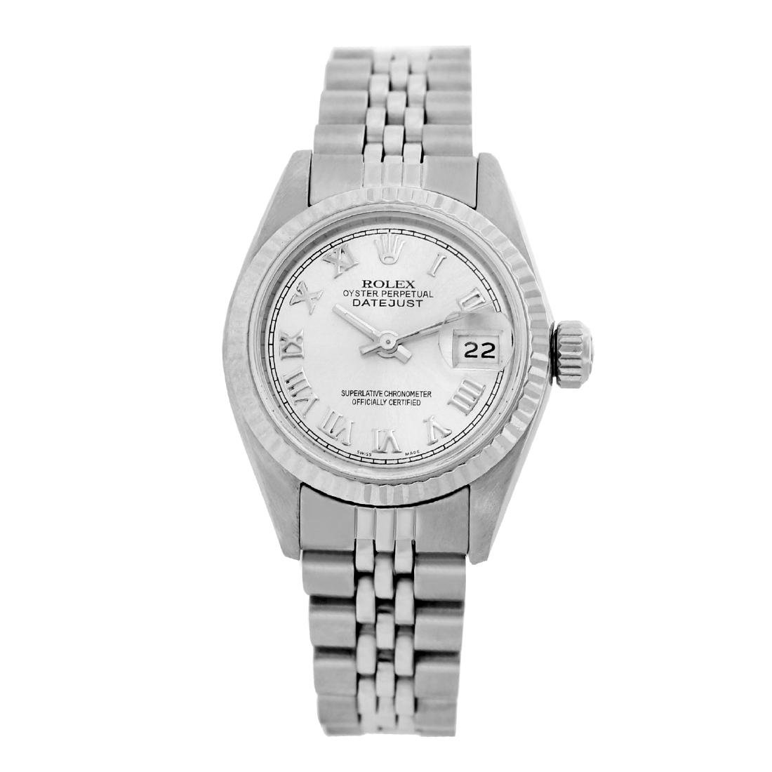 Rolex Pre-owned 26mm Womens Custom White Stainless