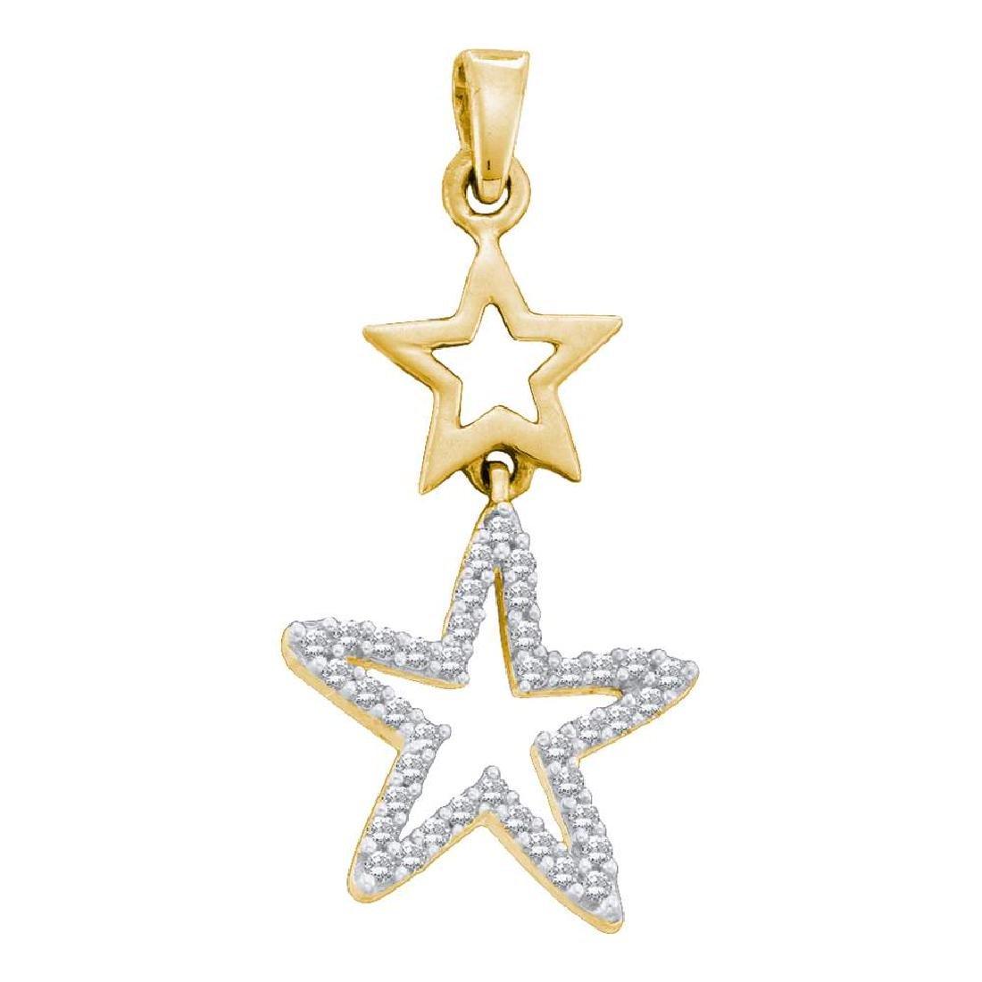 0.11 CTW Diamond Star Pendant 10KT Yellow Gold -