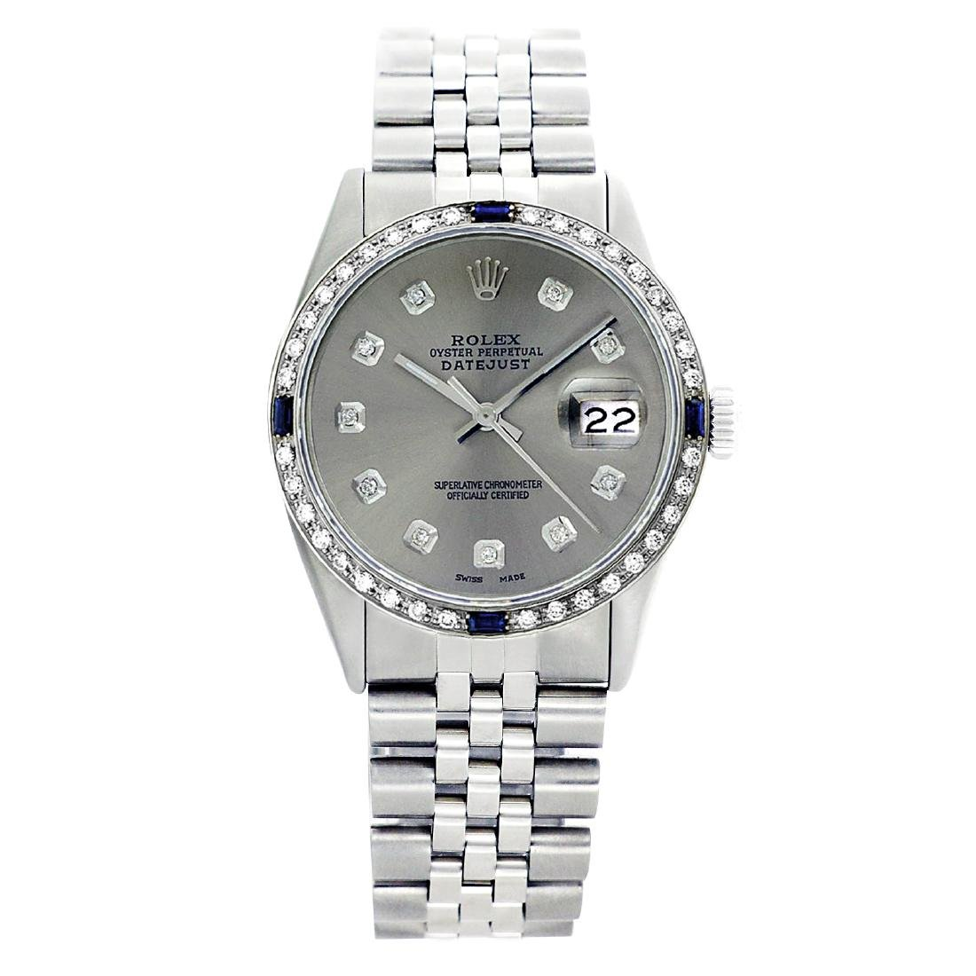 Rolex Pre-owned 36mm Mens Grey Stainless Steel -