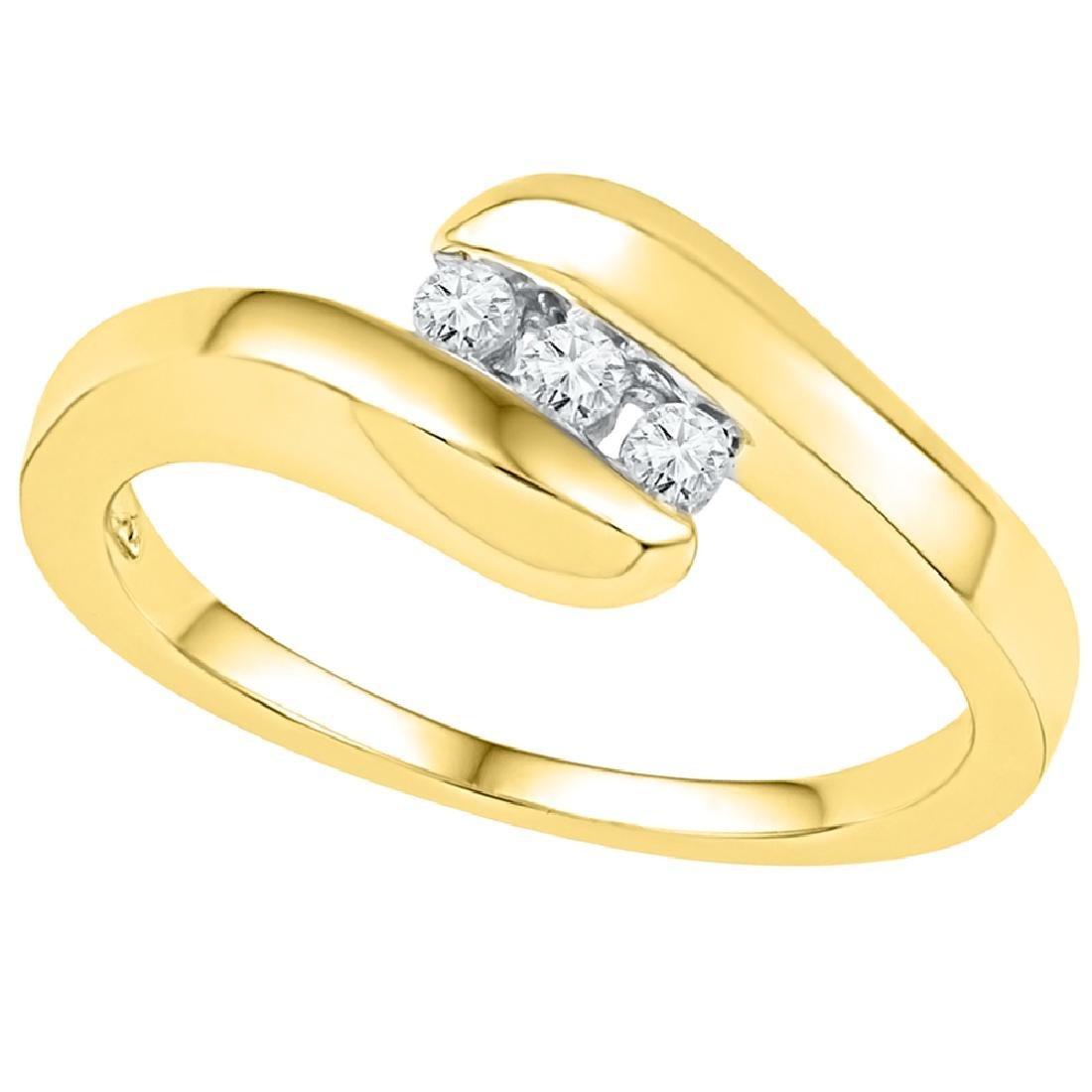0.12 CTW Diamond 3-stone Promise Bridal Ring 10KT