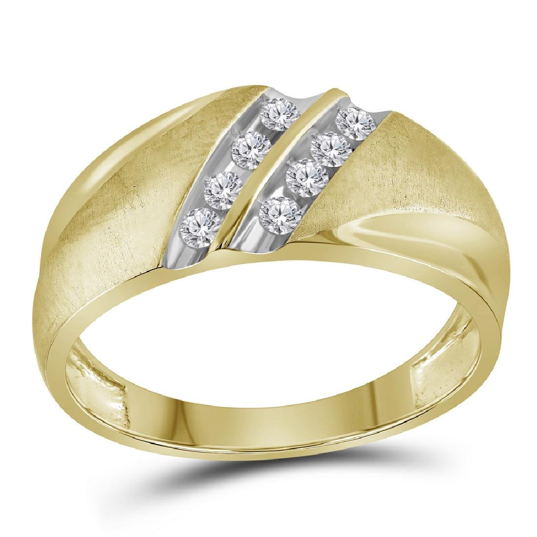0.25 CTW Mens Diamond Ring 10KT Two-tone Gold -