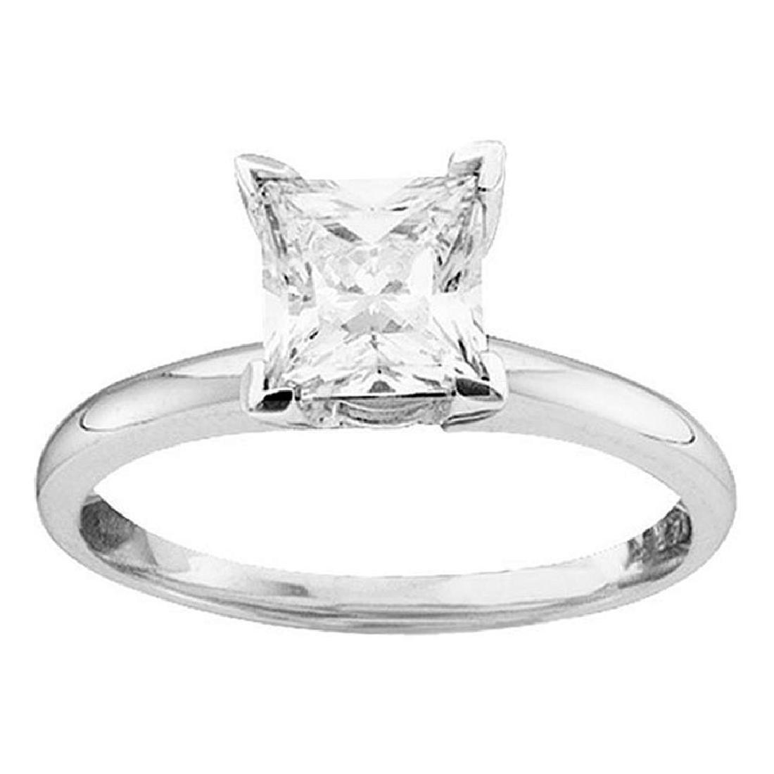 0.75 CTW Princess Diamond Solitaire Bridal Engagement