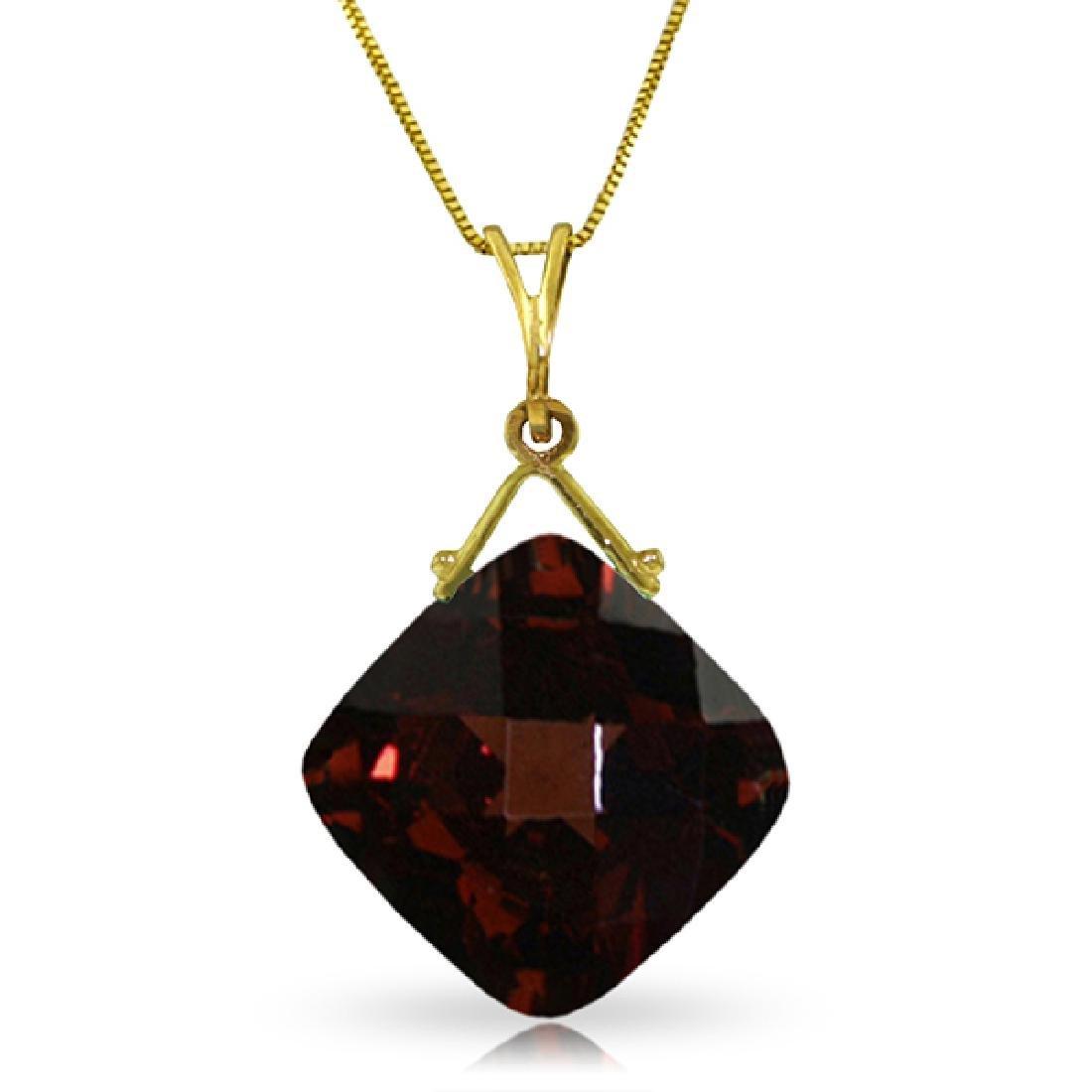 Genuine 8.75 ctw Garnet Necklace Jewelry 14KT Yellow