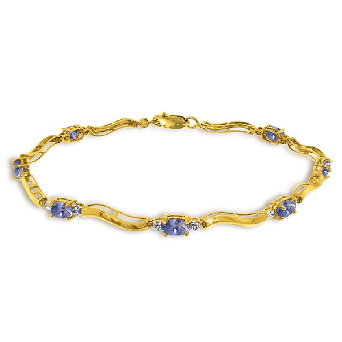 Genuine 2.01 ctw Tanzanite & Diamond Bracelet Jewelry