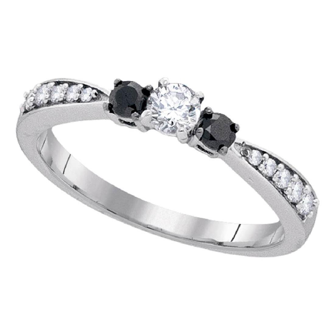 0.39 CTW Diamond 3-stone Tapered Bridal Engagement Ring