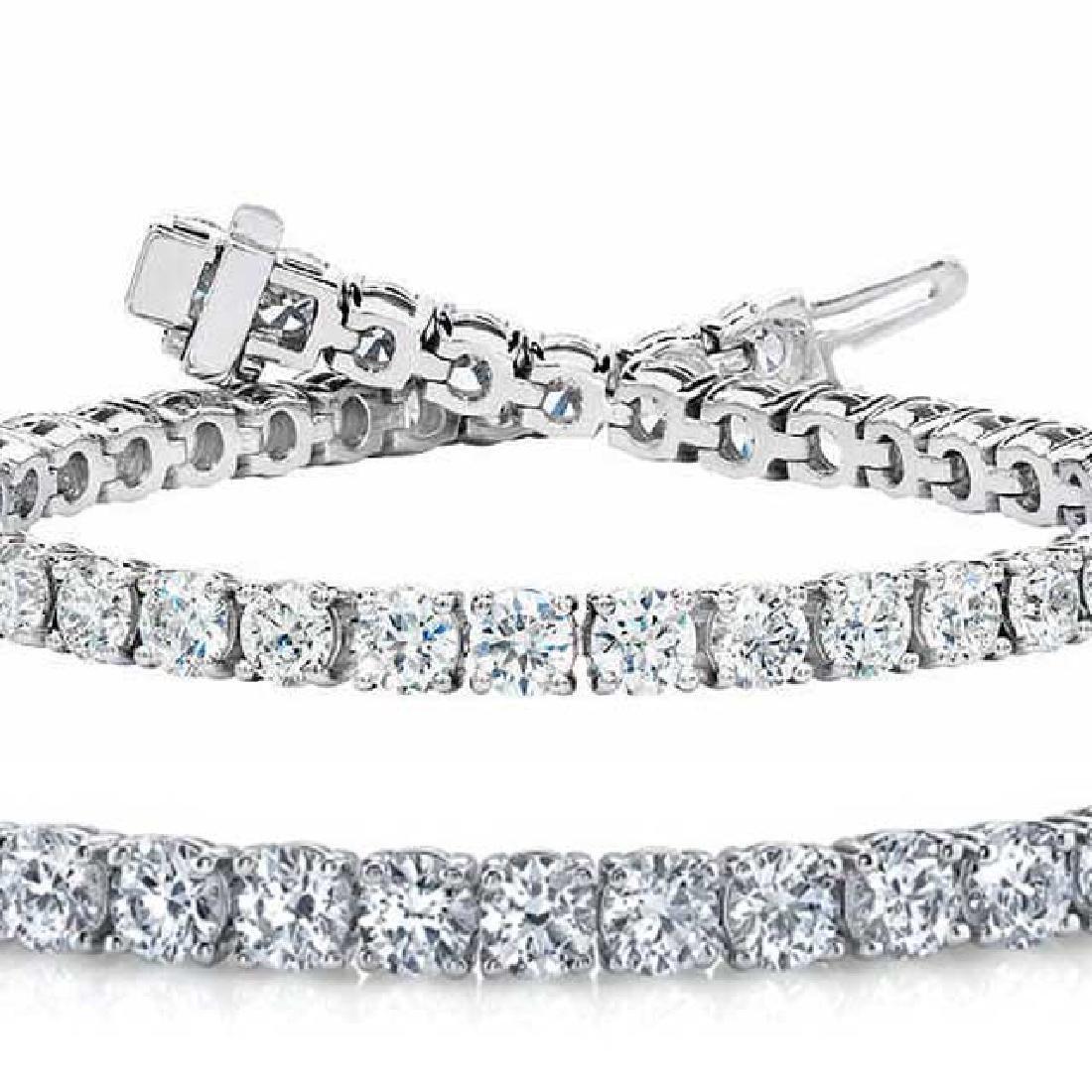 Natural 7.01ct VS-SI Diamond Tennis Bracelet Platinum -