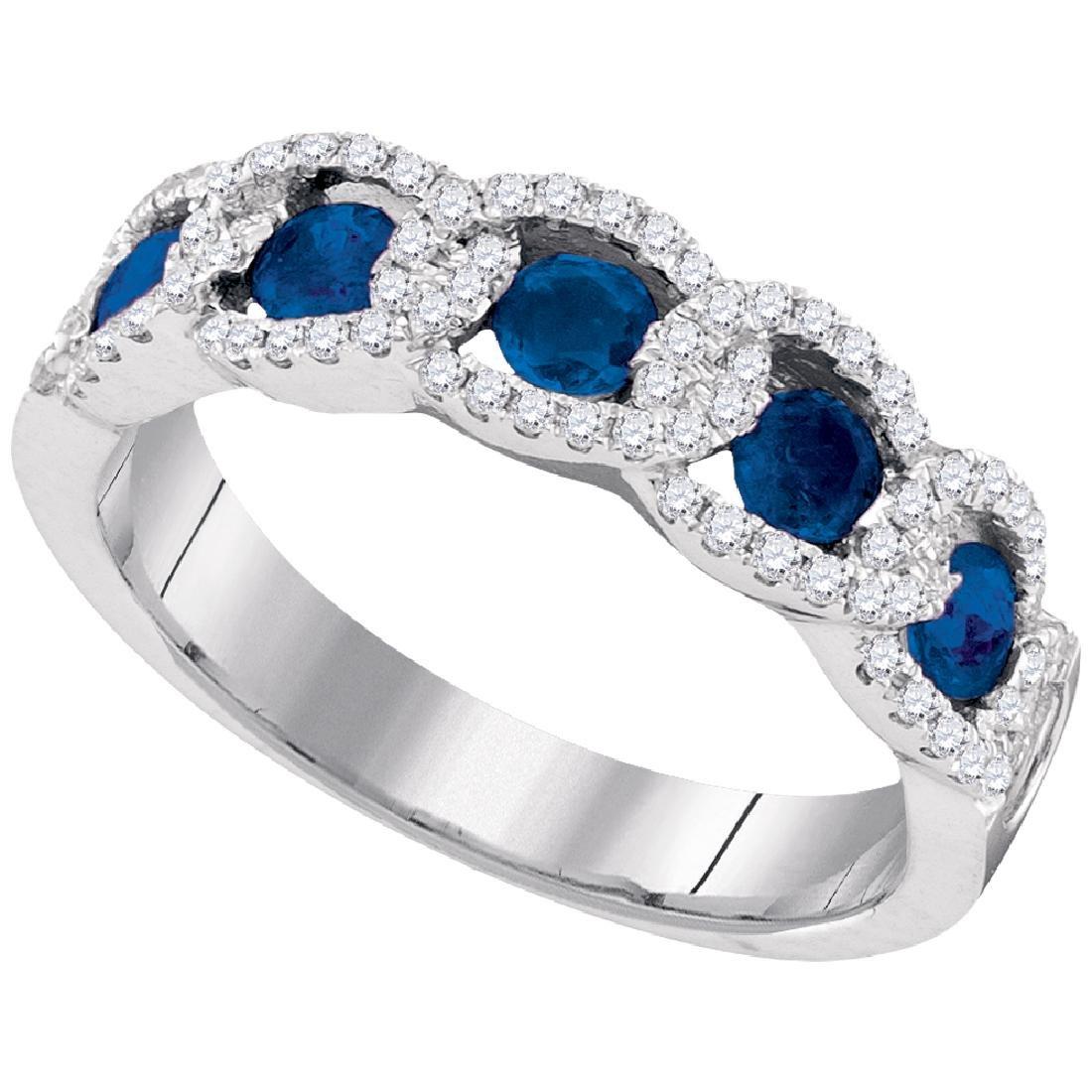 1.01 CTW Diamond Ring 14KT White Gold - REF-89M9H
