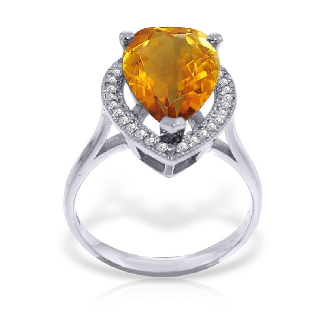 Genuine 3.41 ctw Citrine & Diamond Ring Jewelry 14KT