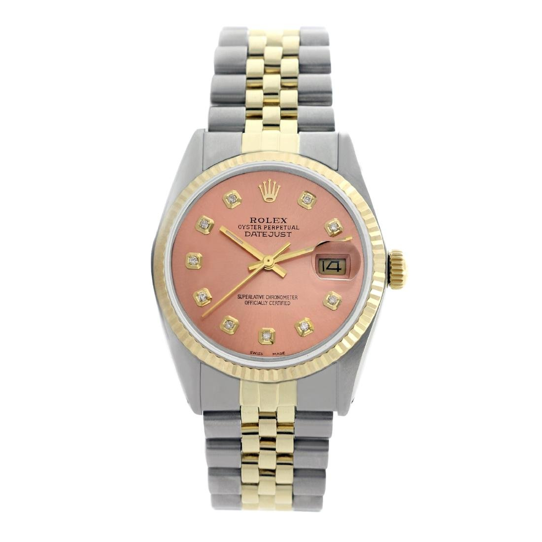 Rolex Pre-owned 36mm Mens Salmon Two Tone - REF-490R4M