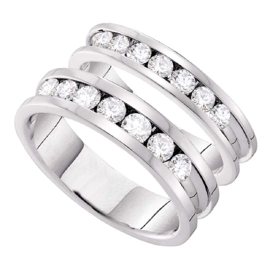 1.55 CTW His & Hers Diamond Matching Bridal Ring 14KT
