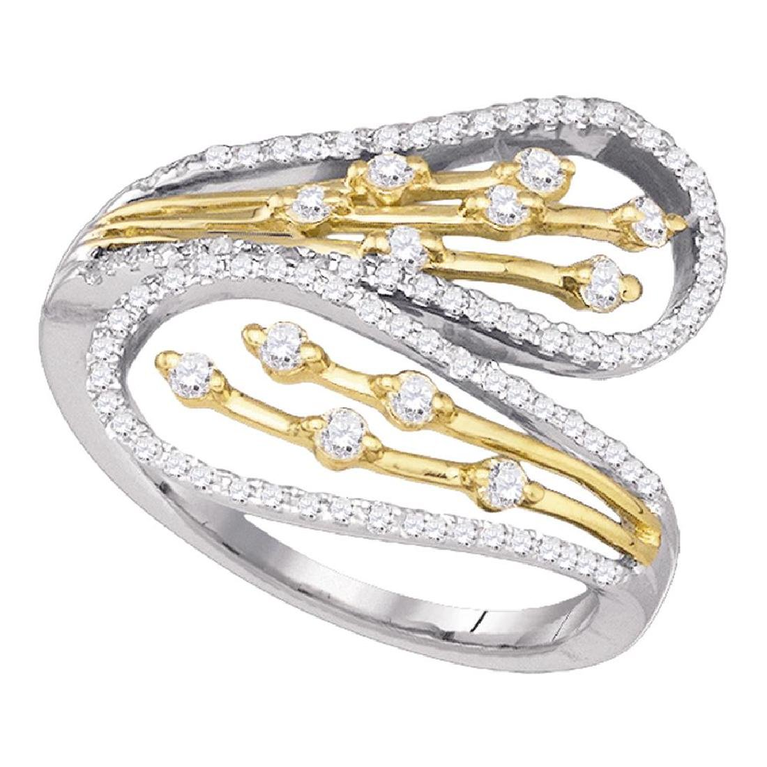0.48 CTW Diamond Bypass Fashion Ring 10KT Two-tone Gold
