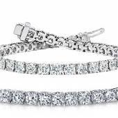 Natural 1004ct VSSI Diamond Tennis Bracelet 14K White