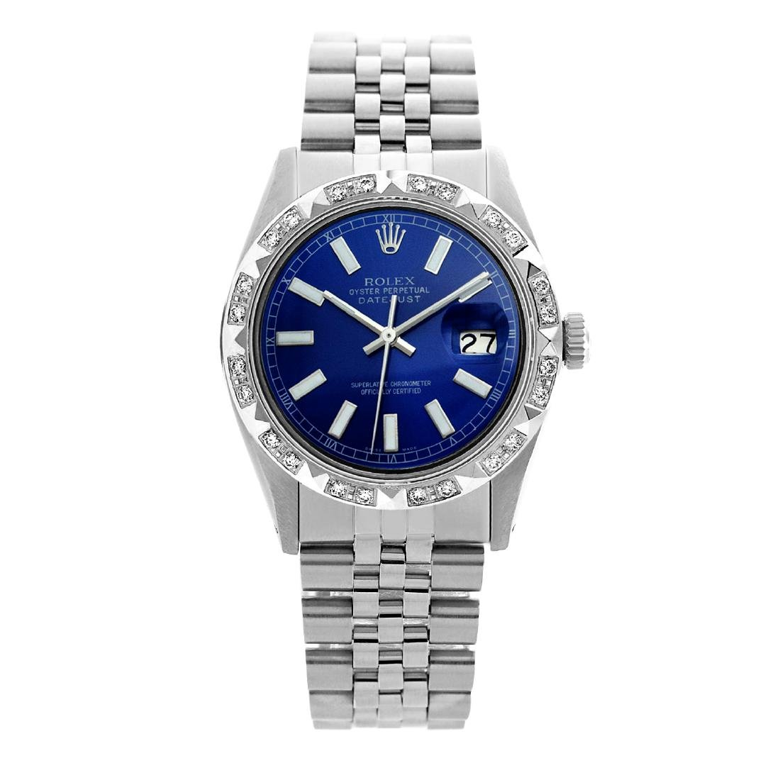 Rolex Pre-owned 36mm Mens Blue Stainless Steel -