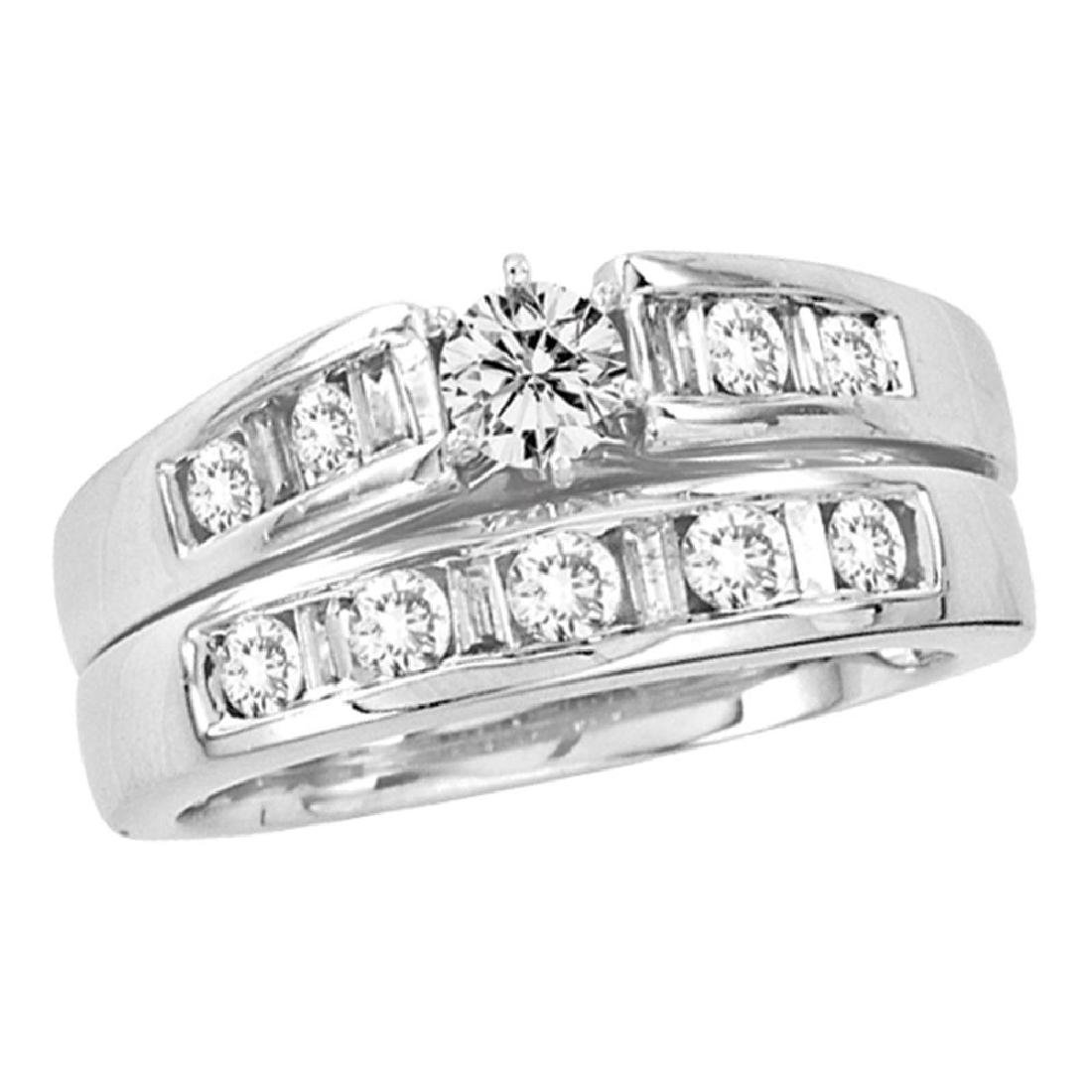 1.01 CTW Diamond Bridal Wedding Engagement Ring 14KT