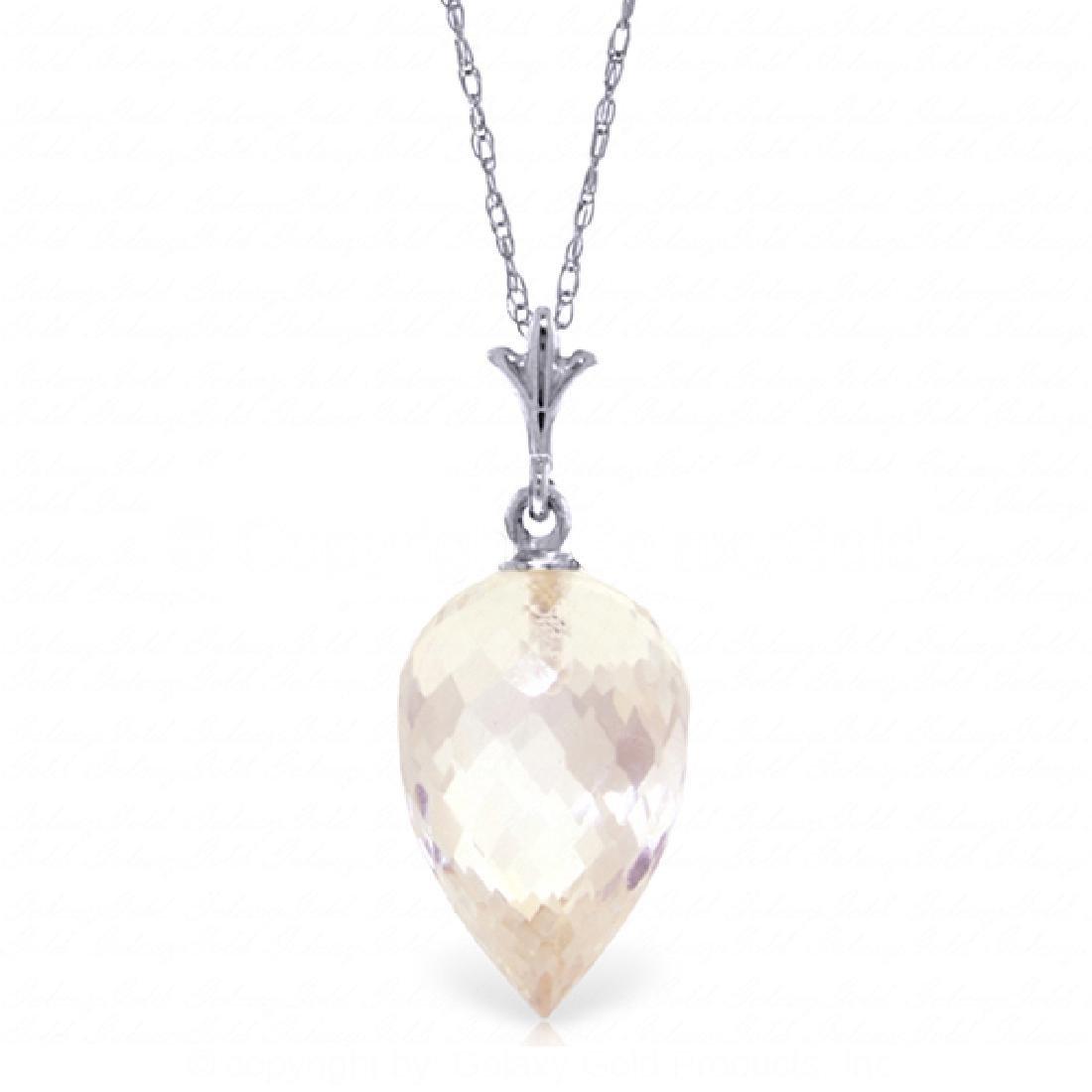 Genuine 12.25 ctw White Topaz Necklace Jewelry 14KT