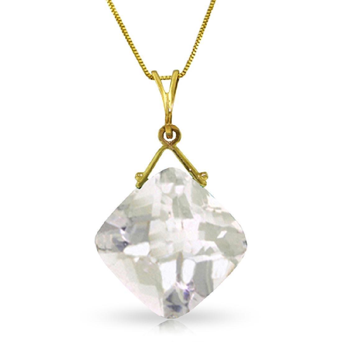 Genuine 8.75 ctw White Topaz Necklace Jewelry 14KT