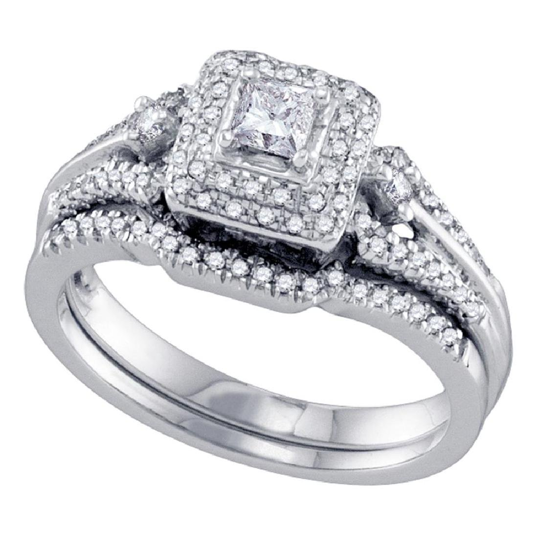 0.52 CTW Princess Diamond Bridal Engagement Ring 14KT