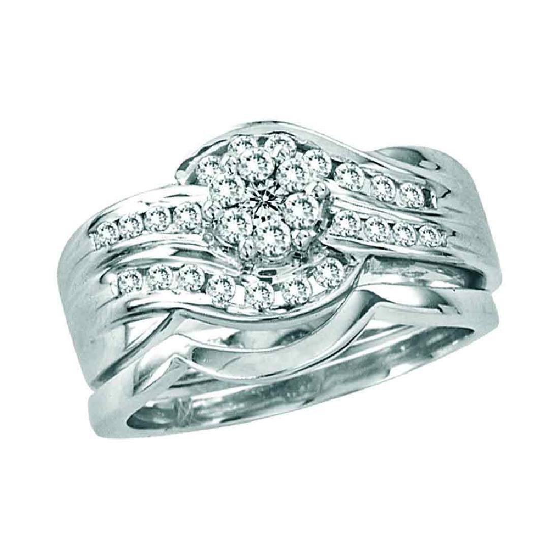 0.50 CTW Diamond Bridal Wedding Engagement Ring 14KT