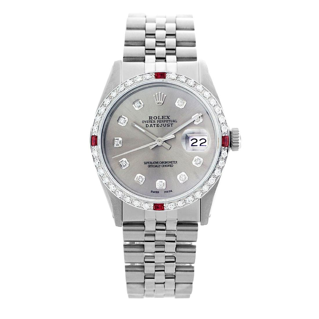 Rolex Pre-owned 36mm Mens Silver Stainless Steel -