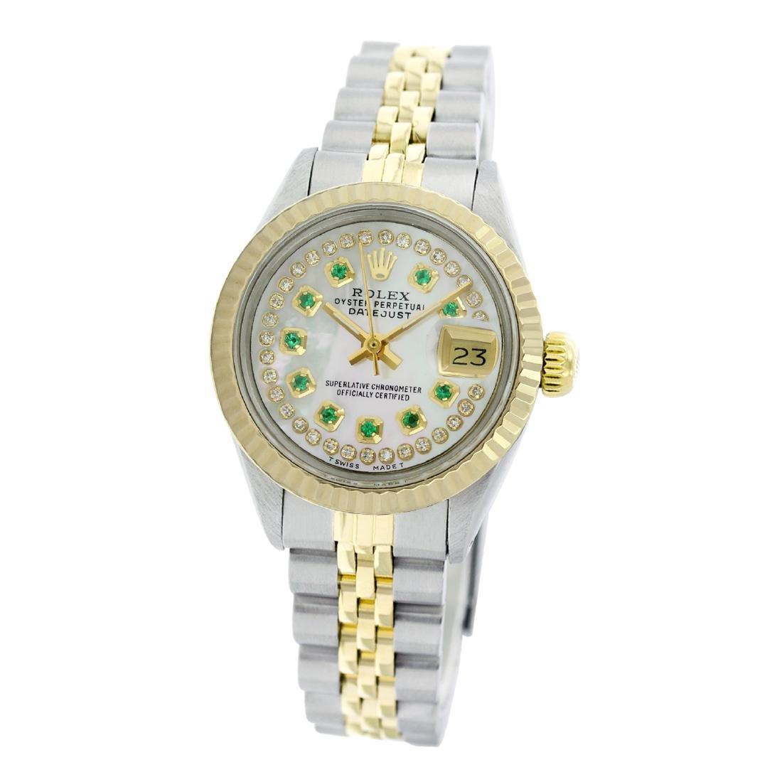 Rolex Pre-owned 26mm Womens Custom String White Mother