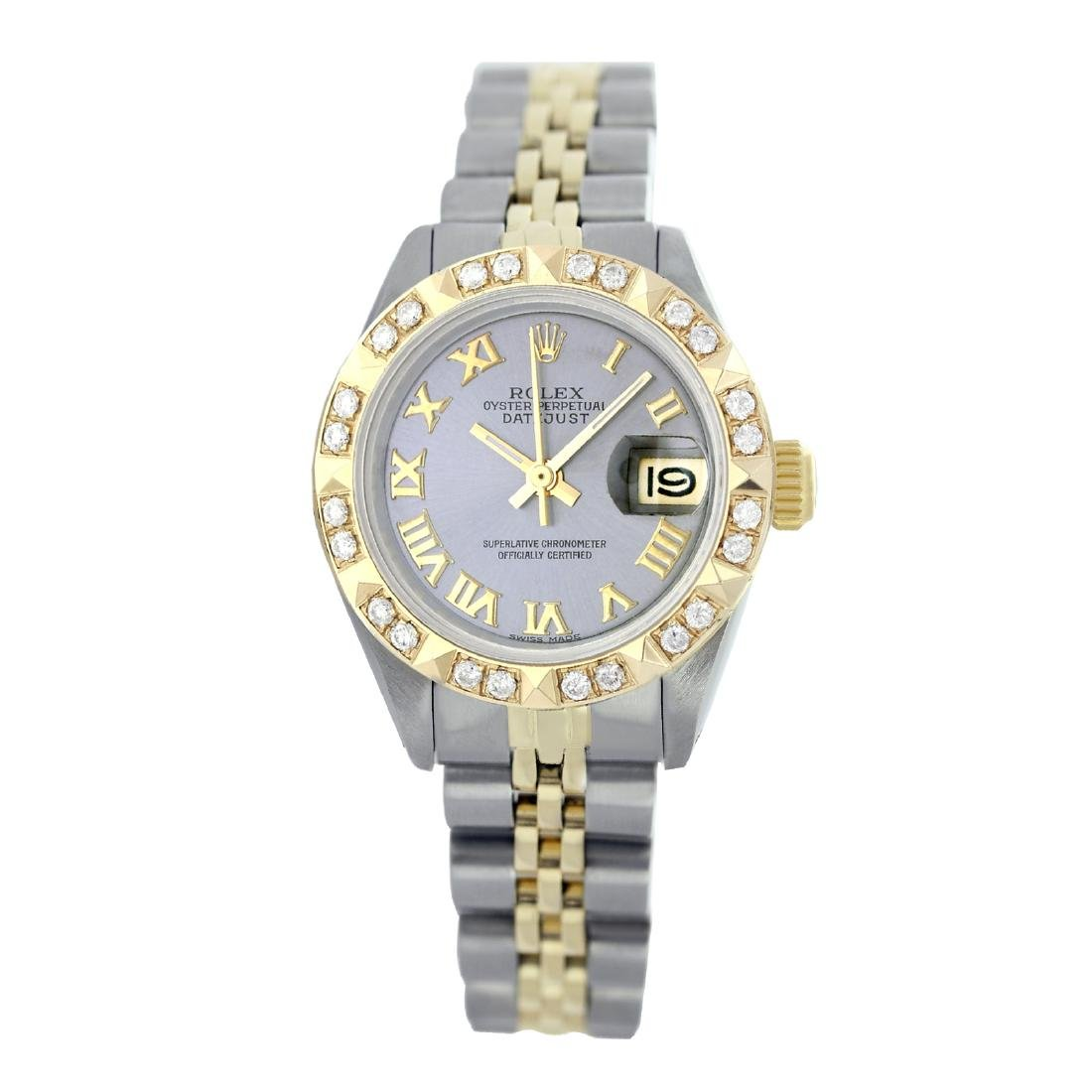 Rolex Pre-owned 26mm Womens Custom Grey Two Tone -
