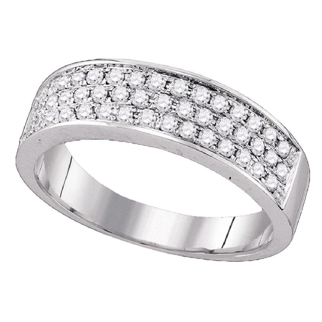 0.49 CTW Diamond Ring 10KT White Gold - REF-41H9M