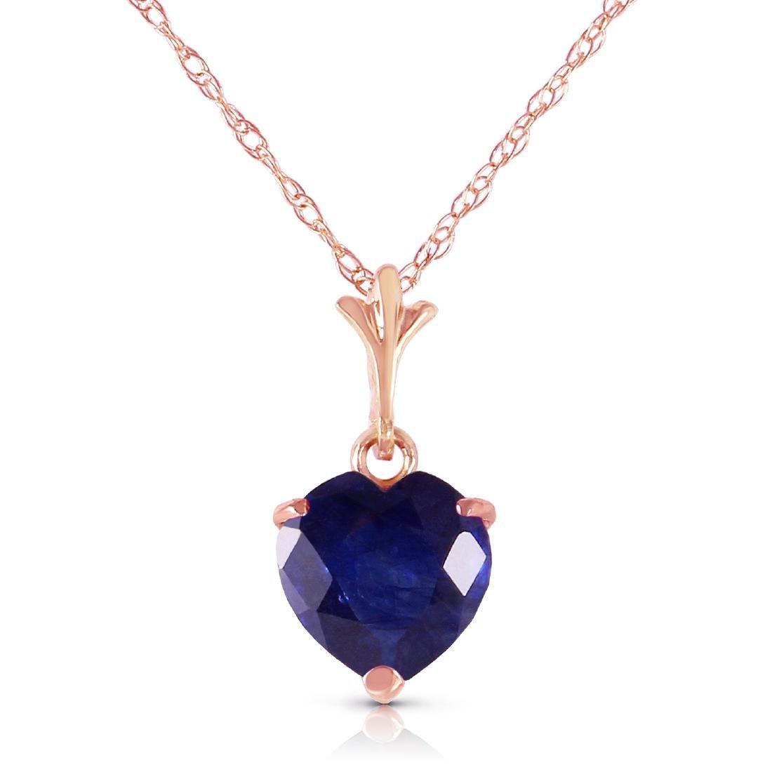 Genuine 1.55 ctw Sapphire Necklace Jewelry 14KT Rose