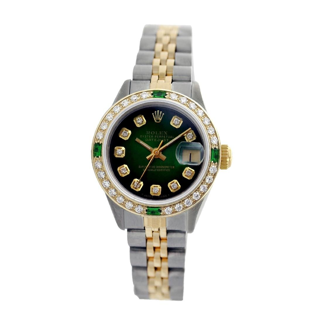 Rolex Pre-owned 26mm Womens Custom Green Vignette Two