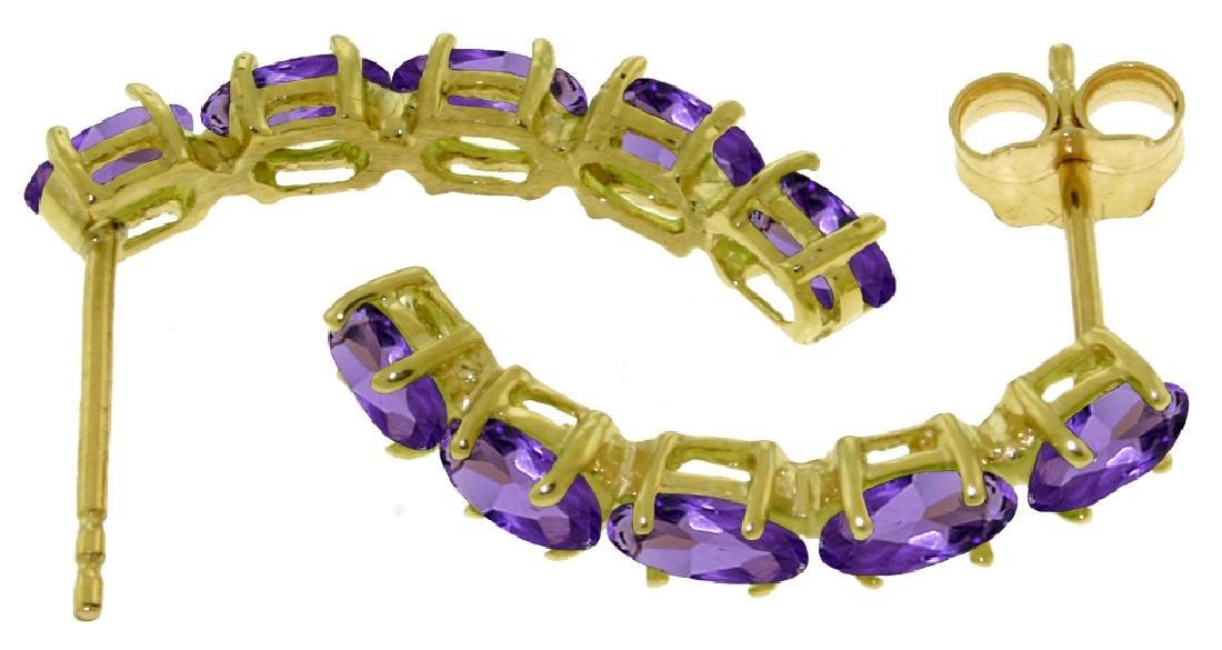 Genuine 2.5 ctw Amethyst Earrings Jewelry 14KT White