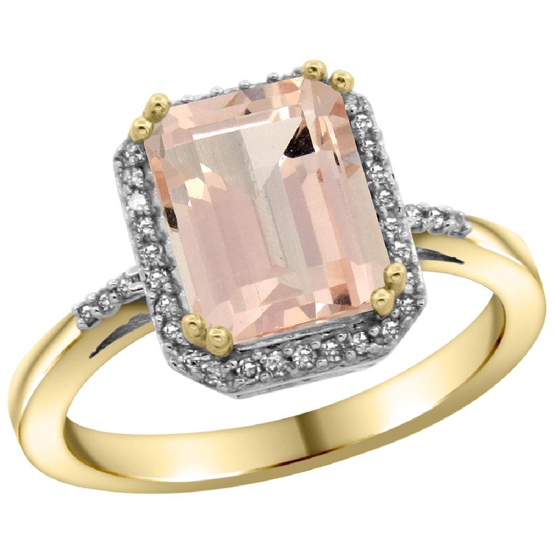 Natural 2.63 ctw Morganite & Diamond Engagement Ring