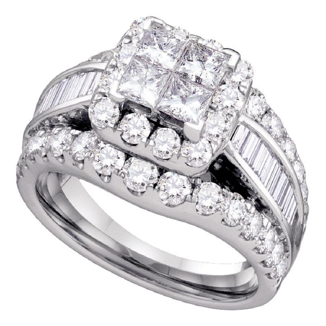 1 CTW Princess Diamond Princess Bridal Engagement Ring