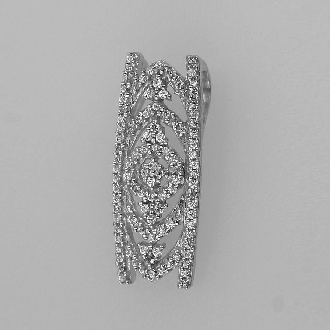 0.20 CTW Diamond & Slider Necklace 14K White Gold -