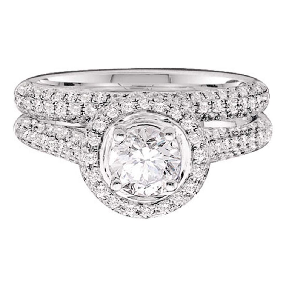 1.25 CTW Diamond Bridal Wedding Engagement Ring 14KT