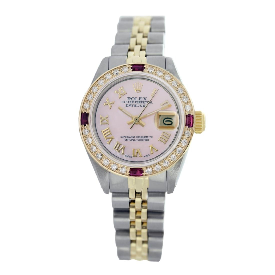 Rolex Pre-owned 26mm Womens Custom Pink Two Tone -