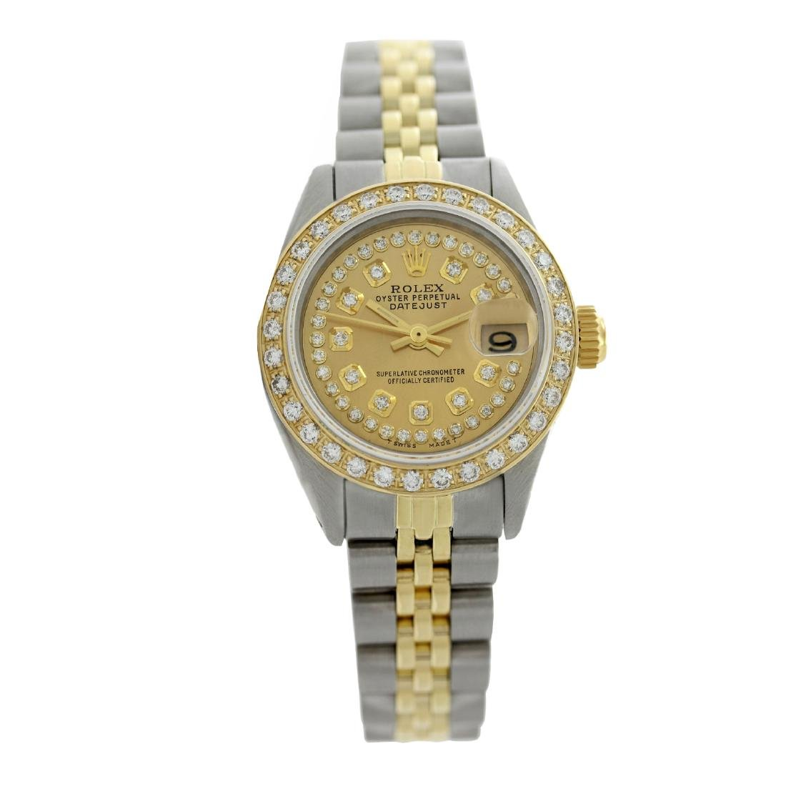 Rolex Pre-owned 26mm Womens Custom String Champagne Two