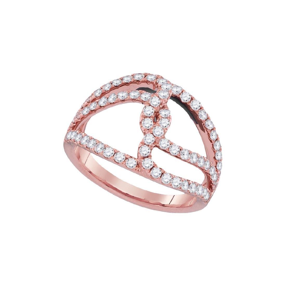 0.83 CTW Diamond Open Woven Strand Ring 18KT Rose Gold