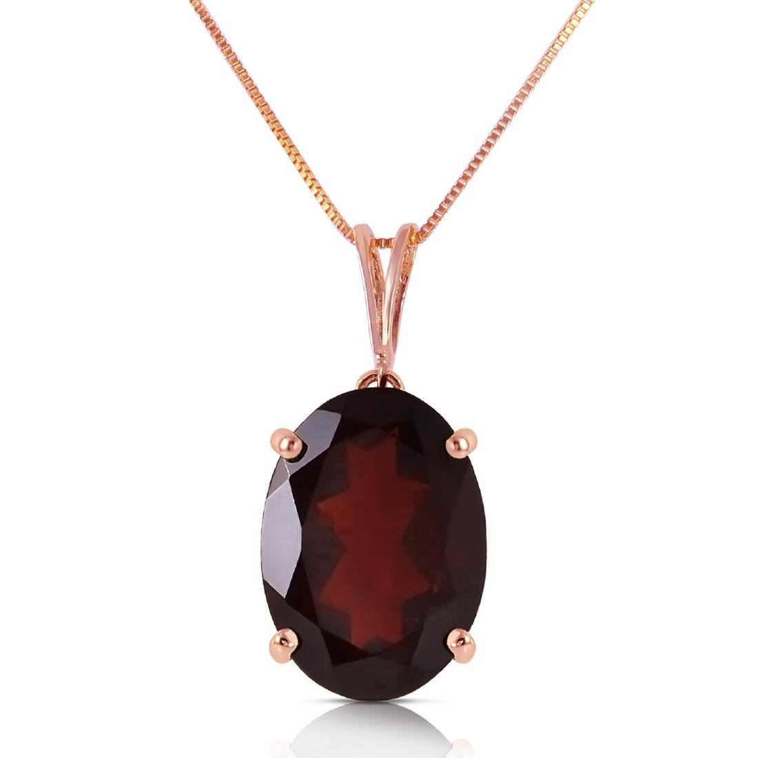 Genuine 6 ctw Garnet Necklace Jewelry 14KT Rose Gold -