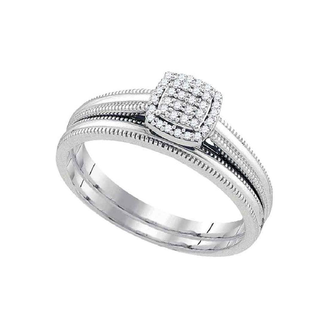 0.10 CTW Diamond Bridal Wedding Engagement Ring 10KT