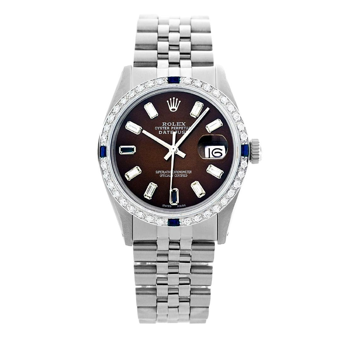Rolex Pre-owned 36mm Mens Chocolate Brown Stainless