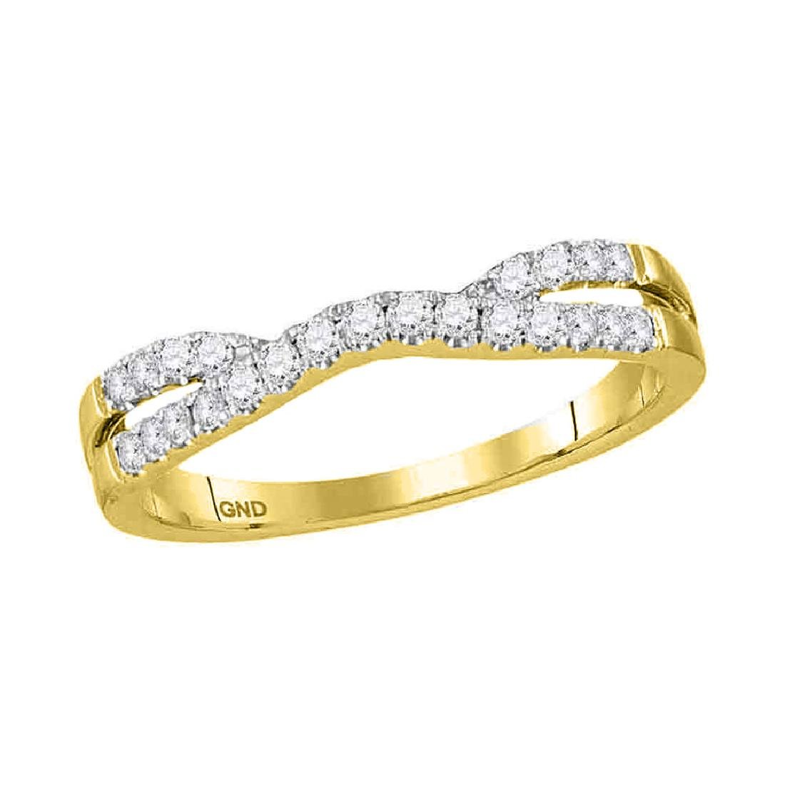 0.25 CTW Diamond Contour Enhancer Wedding Ring 14KT
